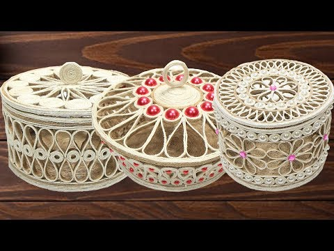 5 Beautiful Jute jewellery storage box for girls