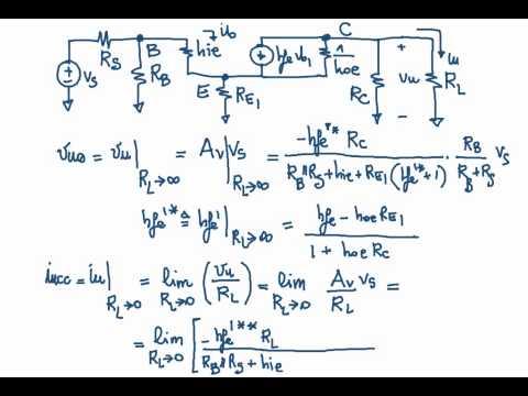 Elettronica -  Resistenza di uscita di Ampli CE con RE e Amplificatore CC