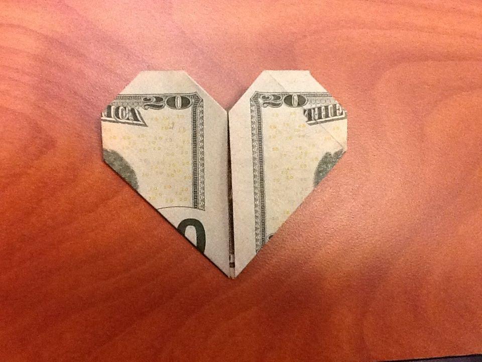Modified dollar bill Heart (2 of 2) | Design: Kathleen Welle… | Flickr | 720x960