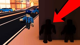INVISIBLE PLAYER TROLLING COPS IN JAILBREAK!! (Roblox)