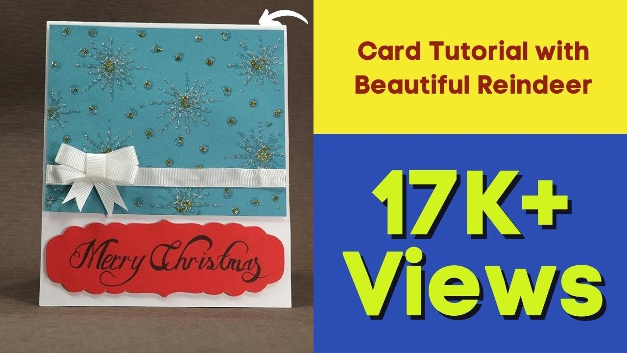 Reindeer Christmas Pop Up Cards - DIY Christmas Card Tutorial with ...