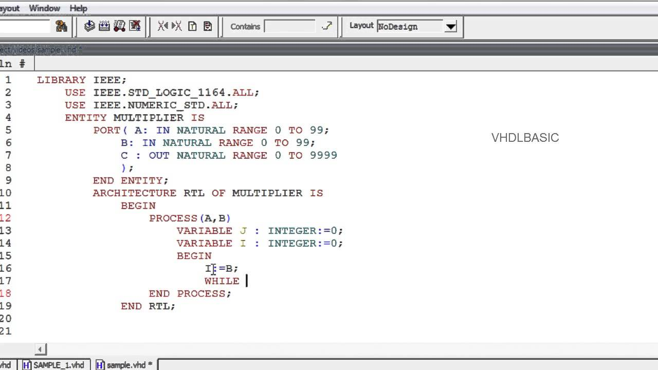 Writing Test benches in VHDL