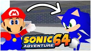What if Sonic Was Playable in SM64?!?! | SM64 Rom Hack