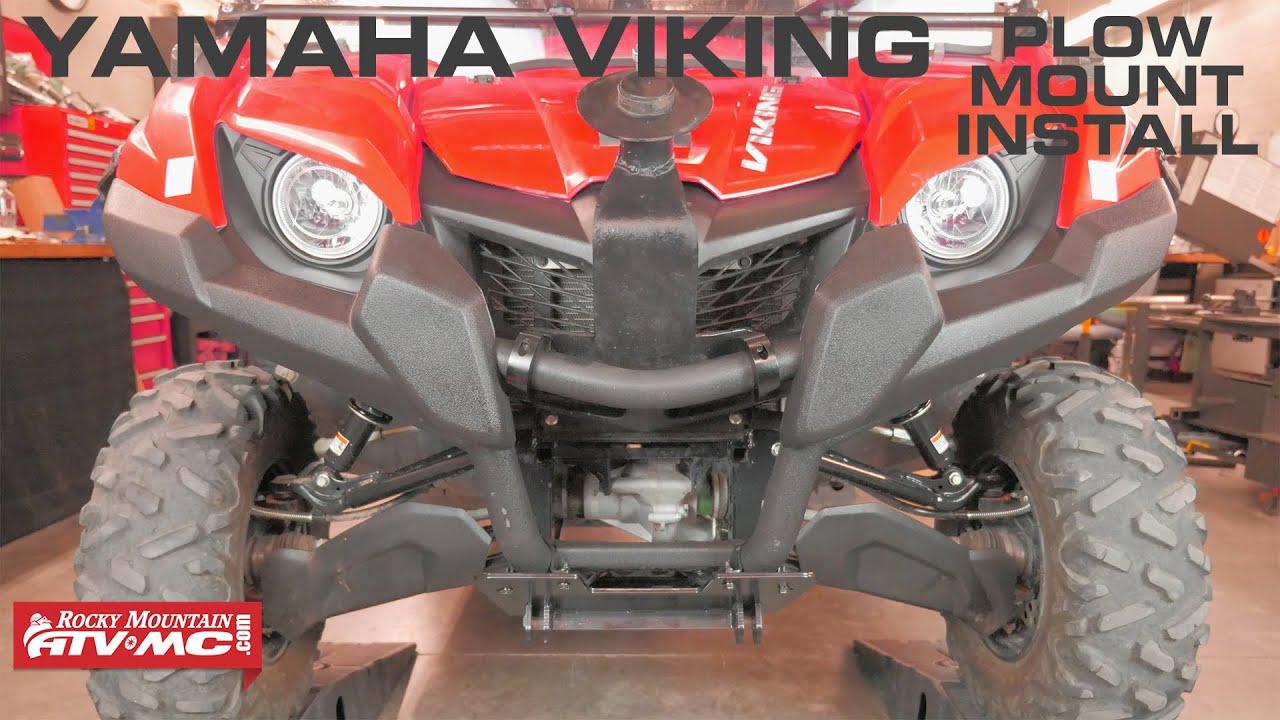 tusk subzero snow plow mount install yamaha viking 700 [ 1280 x 720 Pixel ]