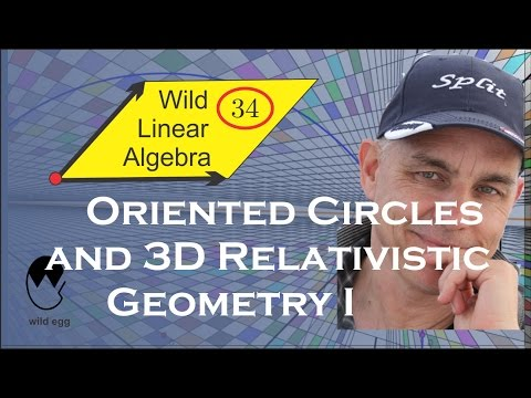 Wild Linear Algebra 34: Oriented circles and 3D relativistic
