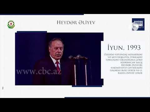 Президент Азербайджана разместил на своей странице в Facebook видеоролик, посвященный Гейдару Алиеву