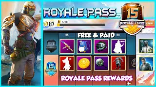 PUBG MOBILE SEASON 15 ROYALE PASS | SEASON 15 PUBG MOBILE NEW UPDATES | S15 RP REWARDS