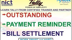 PARTY OUTSTANDING REPORT || SEND PAYMENT REMINDER MAIL || BILL SETTLEMENT IN TALLY GST