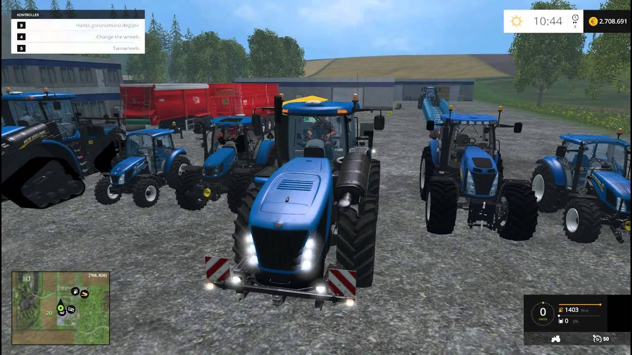 Farming Simulator 2015 New Holland Tractor Mods Pack YouTube