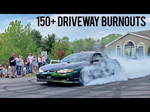 WORLD'S BEST HOME DRIVEWAY BURNOUTS!