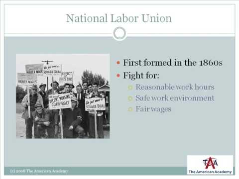 Lesson 2.1 - The Growth of Labor Unions
