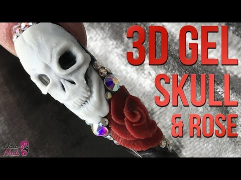 3D Gel Skull & Rose - Halloween Nail Design - 3D Sculpting Gel from YouTube · Duration:  12 minutes 25 seconds