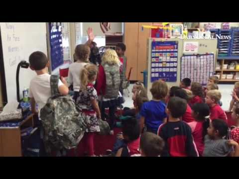 Veteran's Day celebrated at East Bradford Elementary School with a Sergeant Major and a Major as spe