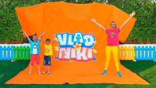 Vlad and Niki play toys and make Giant T-Shirt