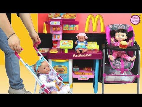 🍔Restaurante para BEBÉS de Juguete - Lindea, Ben y Boo muñecas