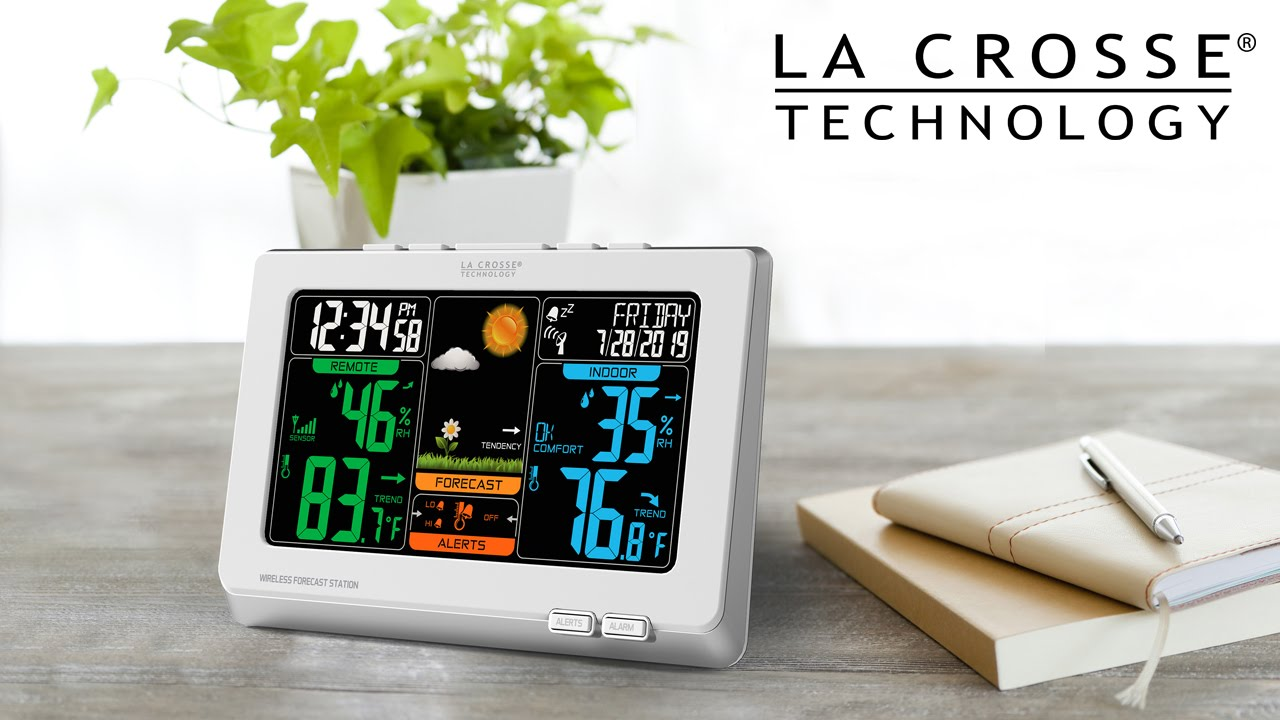 New 2014 Wireless Color Weather Station - YouTube