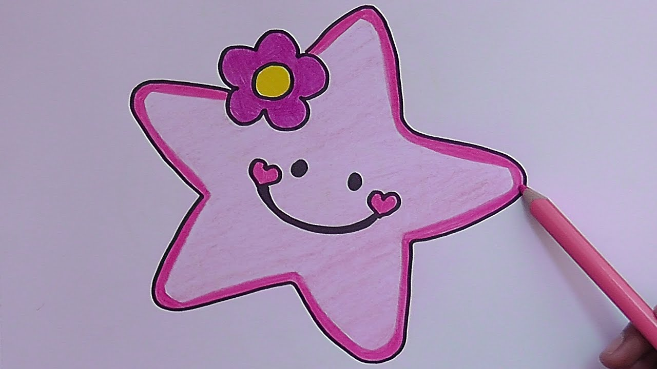 Como Dibujar Y Pintar A Estrella Rosado How To Draw And Paint Pink