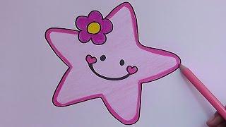 Como dibujar y pintar a Estrella Rosado - How to draw and paint Pink Star