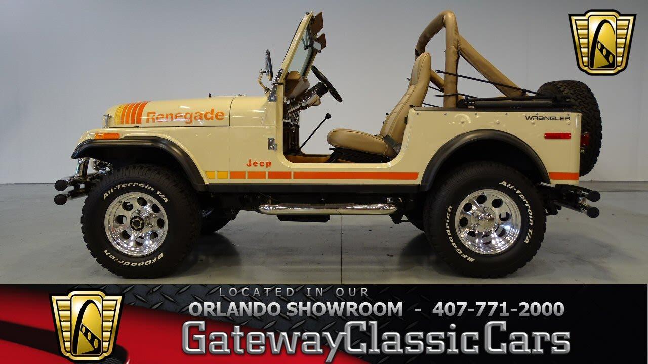 White Cj7 Renegade >> 1979 Jeep CJ-7 Gateway Classic Cars Orlando #439 - YouTube