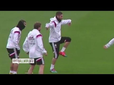 Neymar and Sergio Ramos Funny Kung Fu Training (HD)