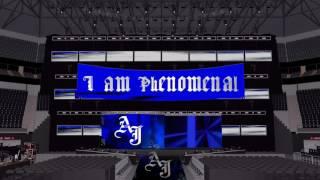 AJ Styles Personnalisés de la WWE stade de la conception sur un SummerSlam 2016/Raw 2016 Stade