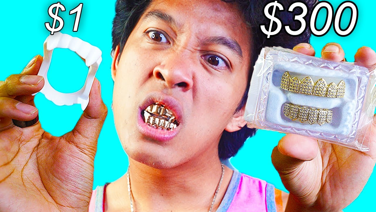 Download $300 Halloween Fang Grillz Vs. 1$ Dollar GRILLz 2