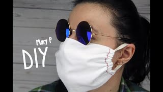Как сделать маску для лица своими руками Простой способ Многоразовая маска из ткани medical mask