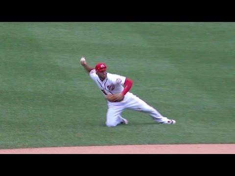 NTYM@WSH: Espinosa dives, spins, throws...