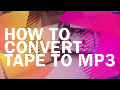 How to convert tape to mp3 in 3 WAYS | Turn cassette to digital