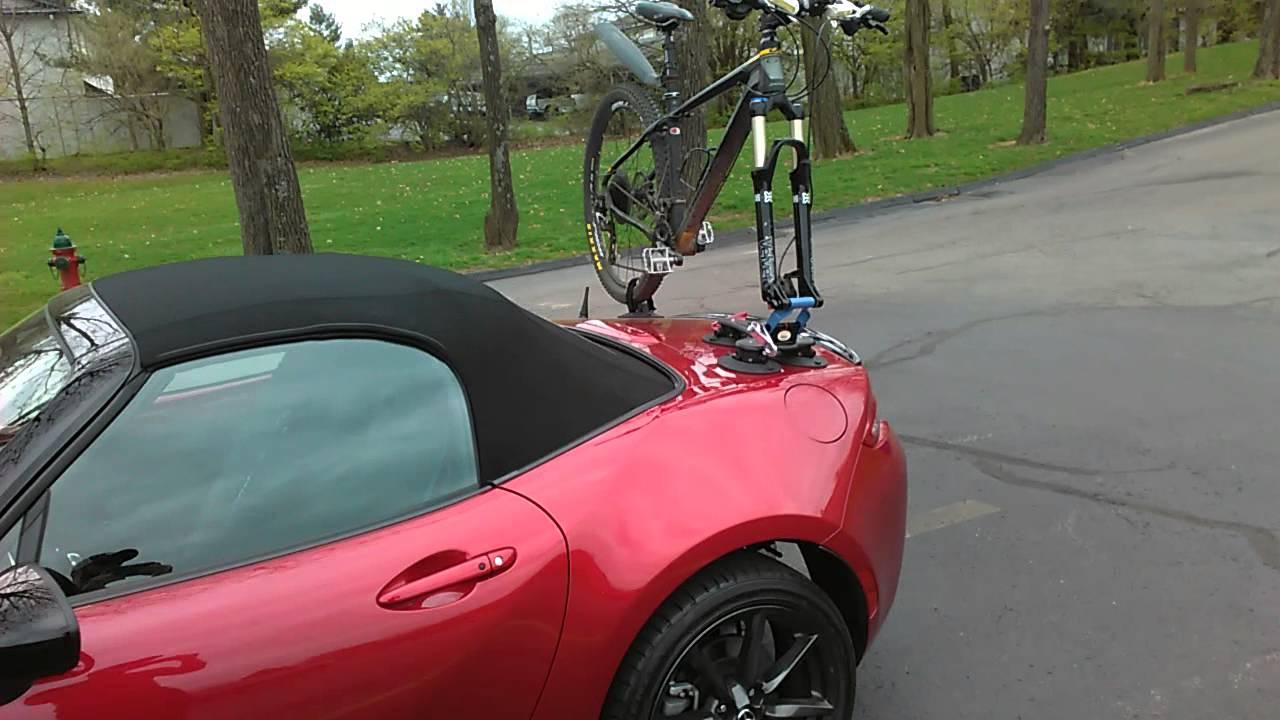 Seasucker Bike Mount On 2016 Mazda Mx 5 Youtube
