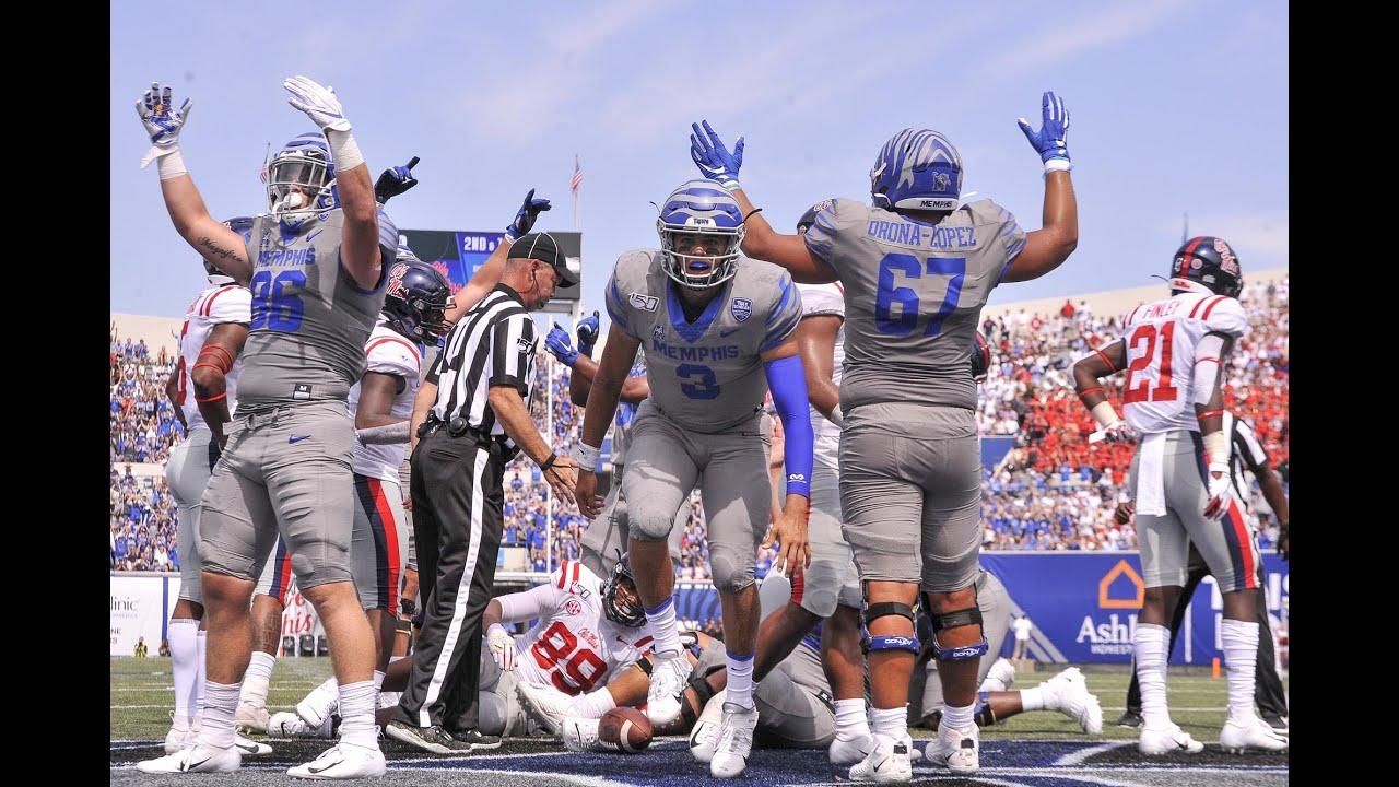 2019 American Football Highlights Memphis Vs Ole Miss Youtube