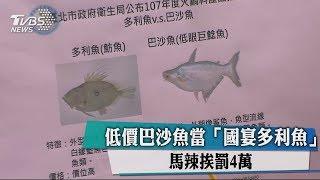 低價巴沙魚當「國宴多利魚」馬辣挨罰4萬