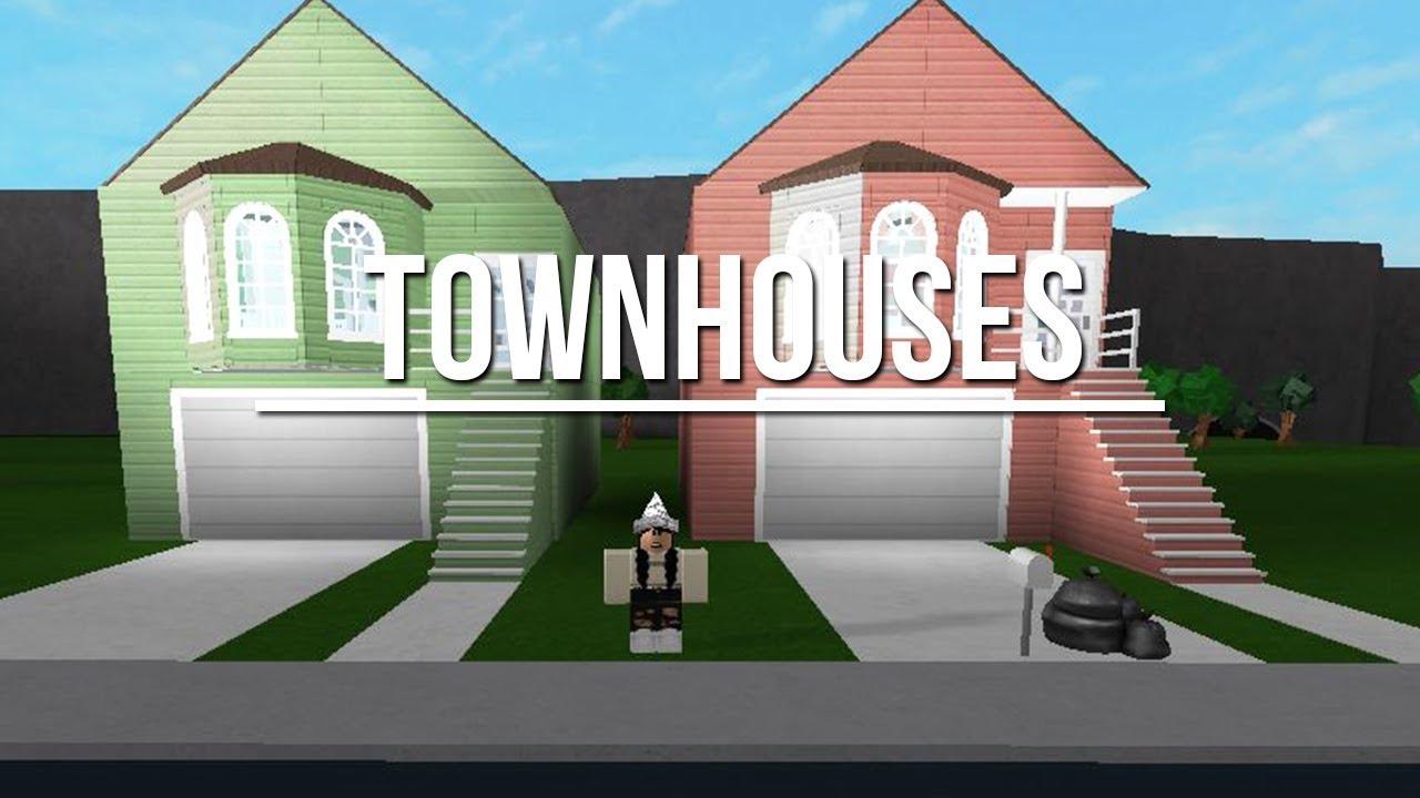 Welcome To Bloxburg: Townhouses 65k - YouTube