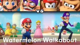 Super Mario Party Mario and Waluigi vs Diddy Kong and Donkey Kong #53