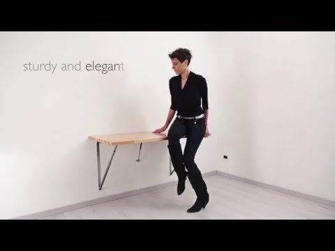 Tavolo Pieghevole A Parete.Wall Folding Table Telki Tavolo Pieghevole A Muro Telki Youtube