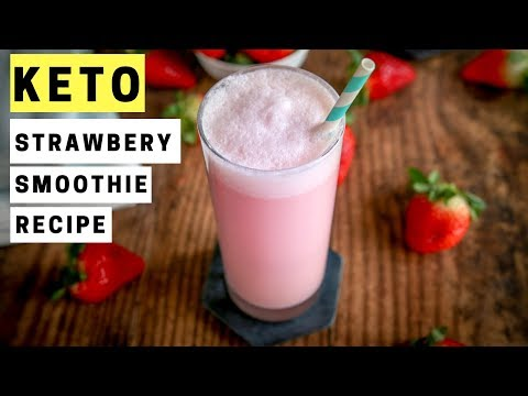 Low Carb Strawberry Smoothie Recipe   Best Low Carb Keto Smoothies For Weight Loss