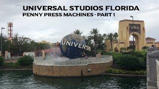 Universal Studios Florida Pressed Pennies Part 1