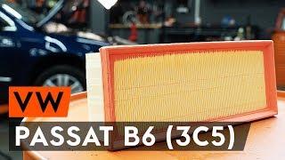 Sostituzione Filtro dell'aria VW PASSAT: manuale tecnico d'officina
