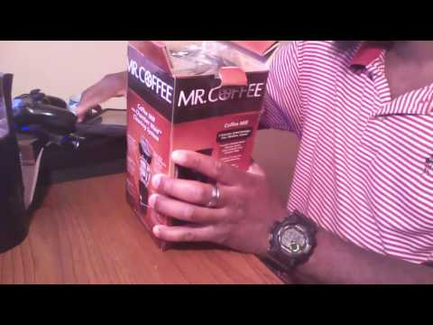 Mr.Coffee Coffee and spice grinder Unboxing & Review