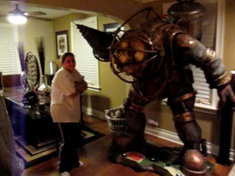Lifesize bioshock big daddy youtube for Big daddy s antiques