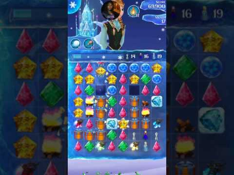 Newest Disney Frozen free fall endless maps wrapped figurines live play level 645