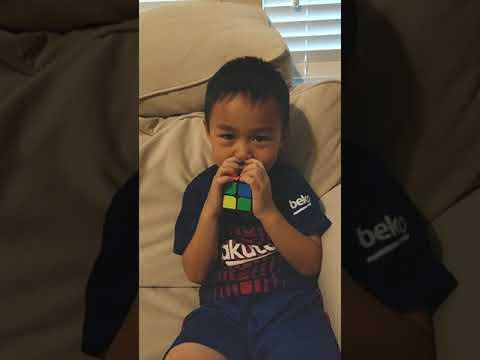 Max solving a 2x2 Rubik's cube