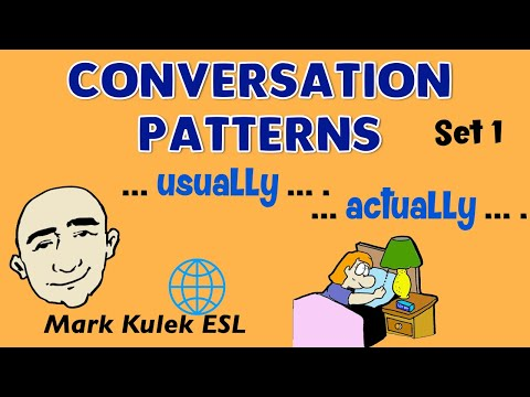 Conversation Patterns | Set 1 | Usually  | Actually |  English Speaking Practice | ESL | EFL