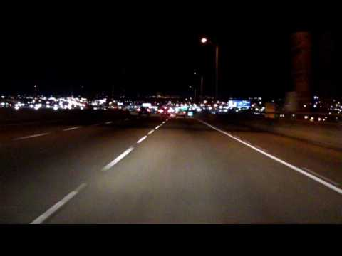 Westbank Expressway (Interstate 910/US 90 BUSINESS Exits 4 to 9) eastbound (Night)
