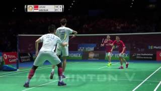 final all england 2017 ganda putra kevin sanjaya marcus fernaldi ina