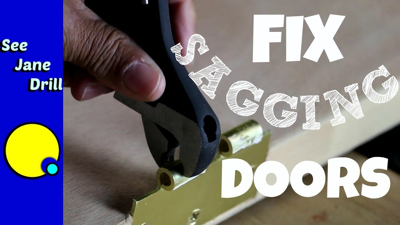 How To Fix A Sagging Door Youtube