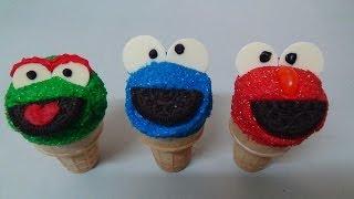 Ice Cream Cake Cones Elmo, Cookie Monster, Oscar The Grouch