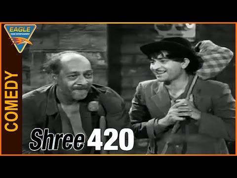 Shree 420 Hindi Movie || Raj Kapoor Very Funny Comedy Scene || Eagle Hindi Movies