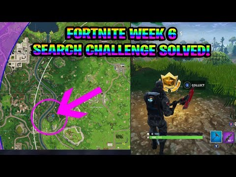 "FORTNITE WEEK 6 CHALLENGE SEARCH ""BETWEEN A CRASHED BUS, METAL BRIDGE AND THREE BILLBOARDS"" SOLVED!!"