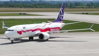 """LOT Polish Airlines """"Poland's Independence"""" Boeing 737 MAX 8 Landing at Rzeszów-Jasionka"""